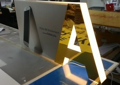 Acrylic Boxup Display Set With LED Lighting