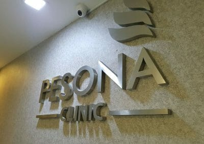 pesona-clinic-3d-stainless-steel-letters
